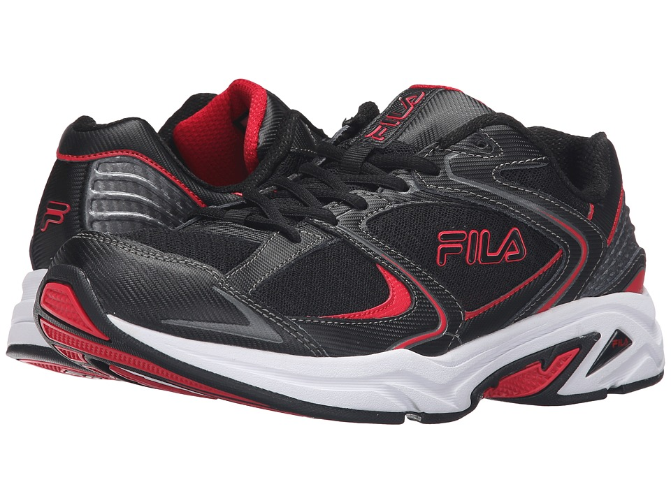 Fila Thunderfire (Black/Fila Red/Dark Silver) Men