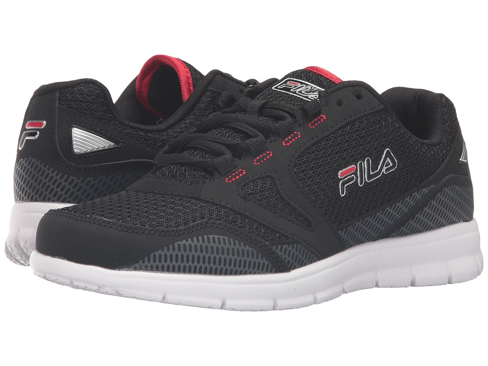 Fila - Direction (Black/Castlerock/Fila Red) Men's Shoes