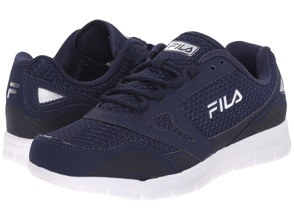 Fila - Direction (Fila Navy/Fila Navy/Metallic Silver) Men's Shoes