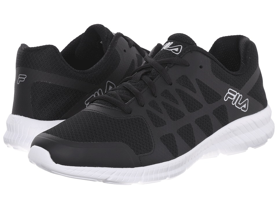 Fila - Memory Finity (Black/White/Metallic Silver) Men's Shoes