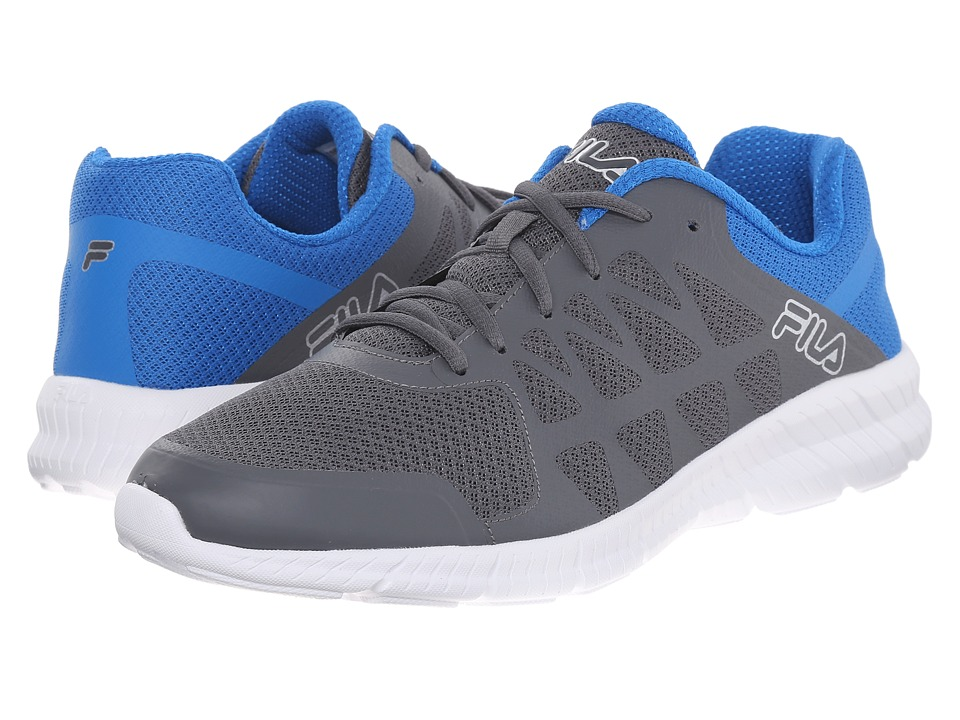Fila - Memory Finity (Castlerock/Electic Blue/Metallic Silver) Men's Shoes