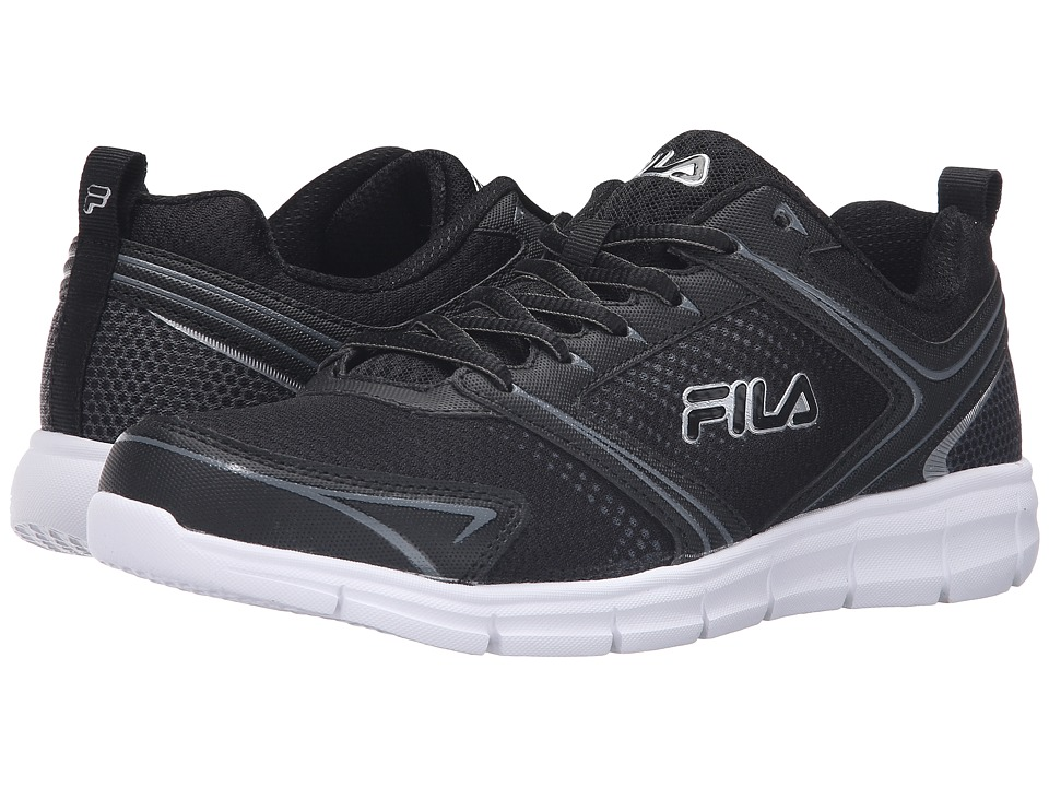 Fila Windstar 2 (Black/Black/Metallic Silver) Men