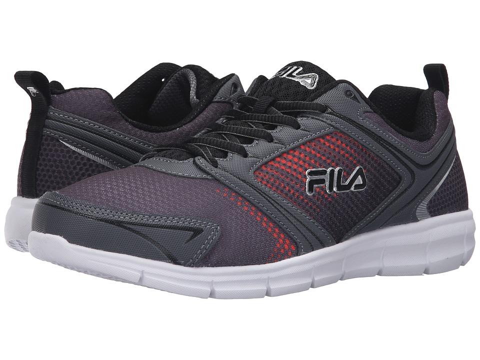 Fila - Windstar 2 (Castlerock/Black/Vibrant Orange) Men's Shoes