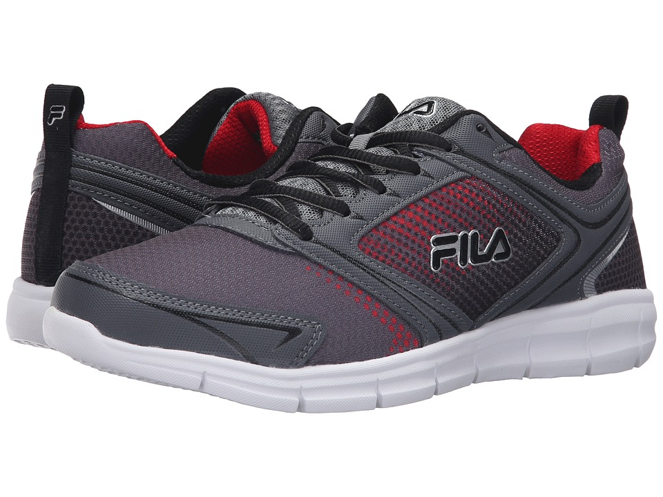 Fila - Windstar 2 (Castlerock/Monument/Fila Red) Men's Shoes