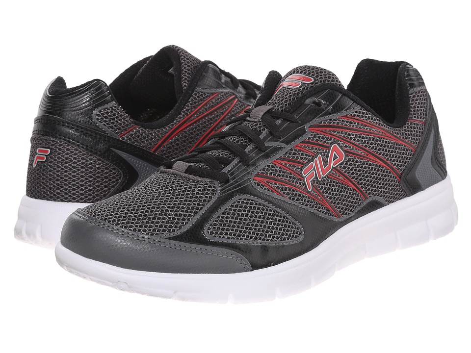 Fila - 3A Capacity (Dark Silver/Black/Fila Red) Men's Shoes