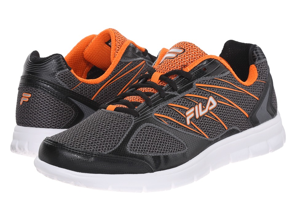 Fila - 3A Capacity (Dark Silver/Black/Vibrant Orange) Men's Shoes