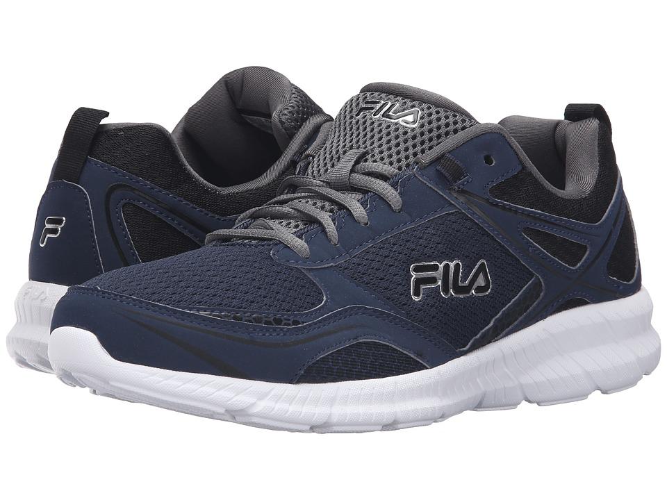 Fila - Speedway (Fila Navy/Black/Castlerock) Men's Shoes