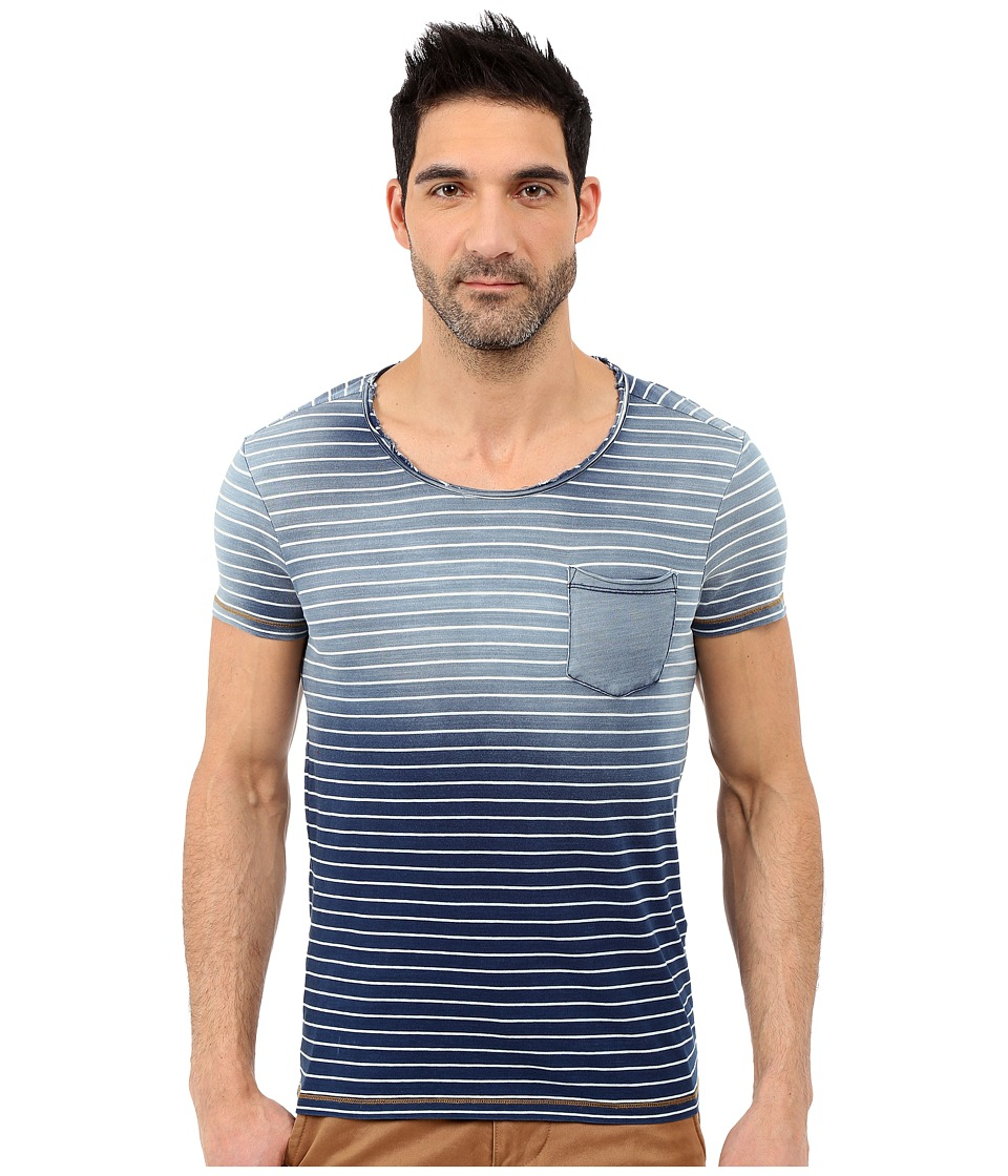 Mavi Jeans - Indigo Striped Tee (Indigo) Men's T Shirt