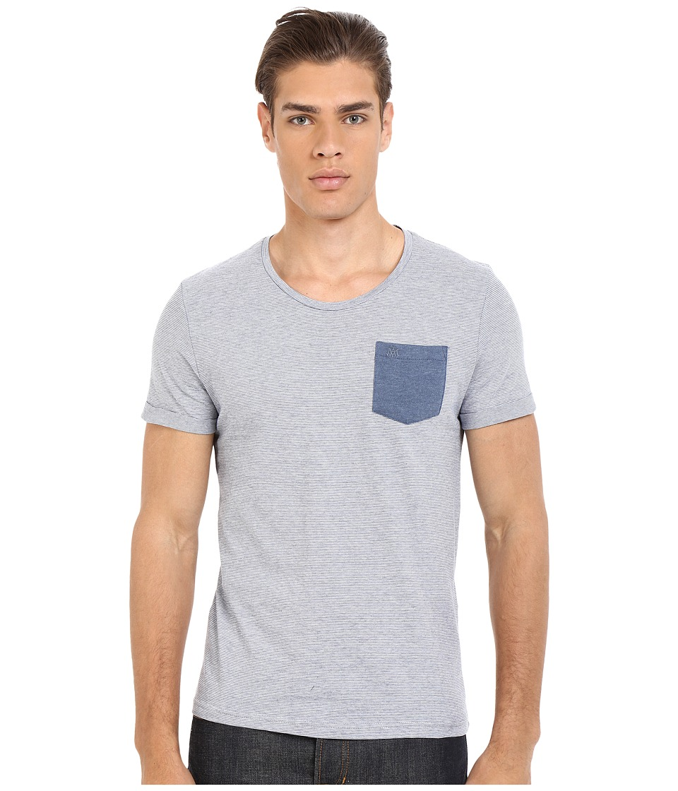 Mavi Jeans - Printed Pocket Tee (Mood Indigo) Men's T Shirt