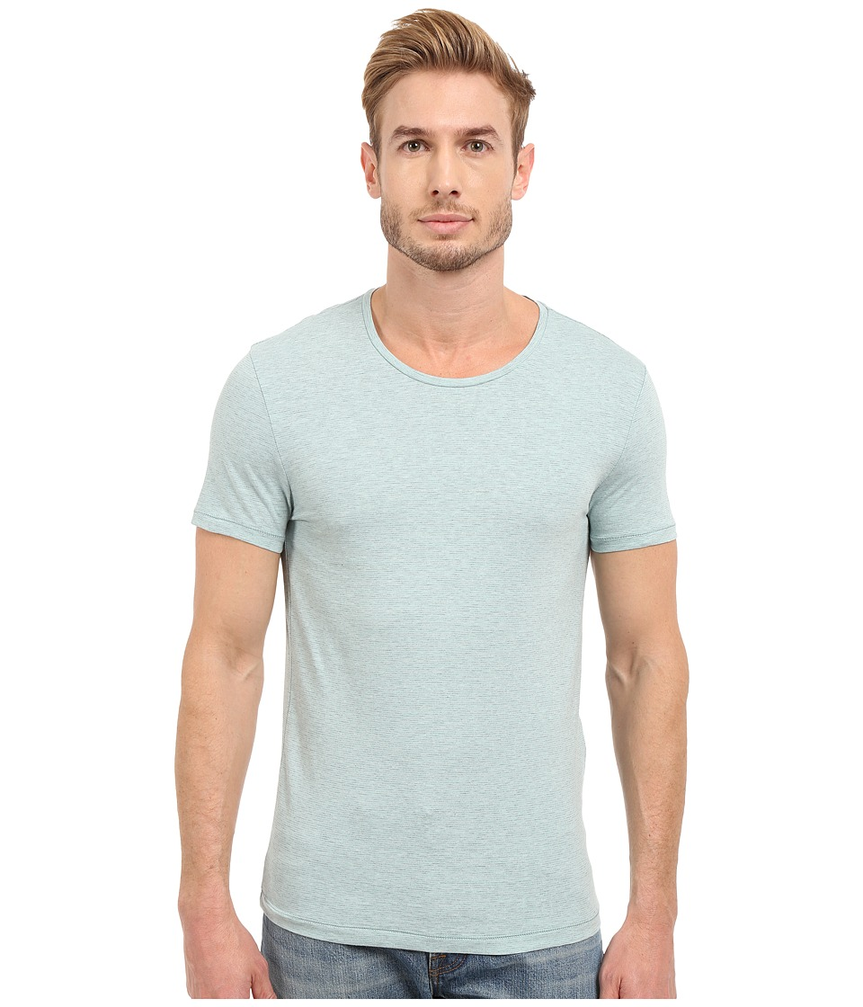 Mavi Jeans - Striped Tee (Aqua Haze) Men's T Shirt