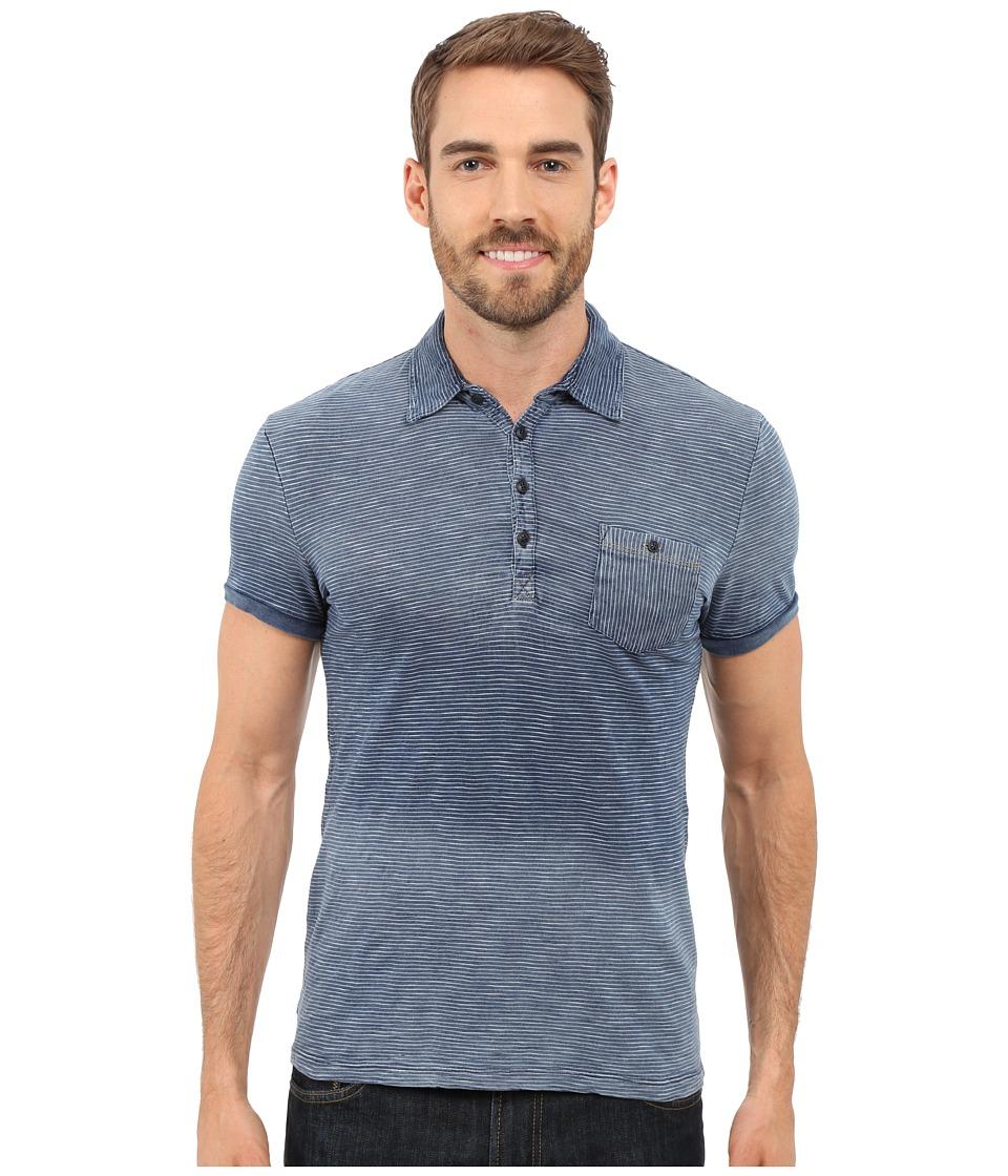 Mavi Jeans - Striped Polo Tee (Indigo) Men's Short Sleeve Knit