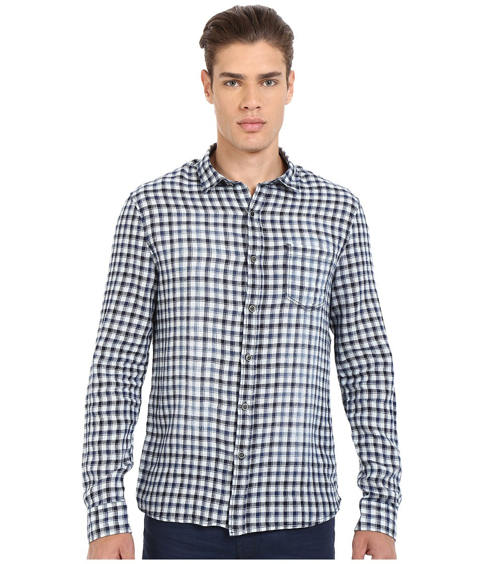 Mavi Jeans - Checked Button Down Shirt (Antique White Checked) Men's Clothing