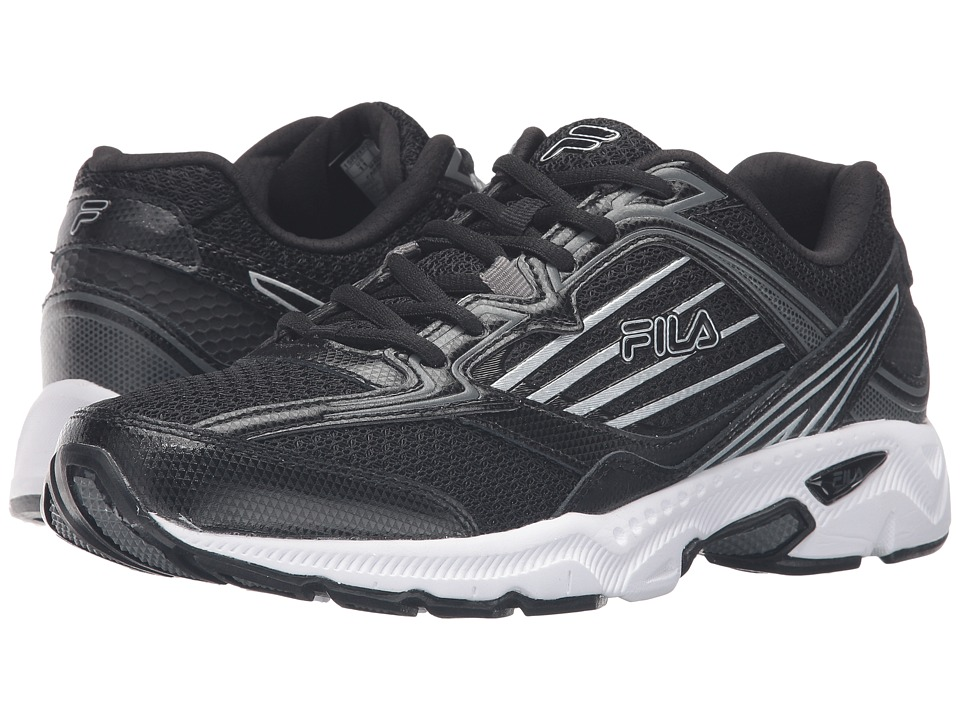 Fila - Inspell 4 (Black/Dark Silver/Metallic Silver) Men's Shoes