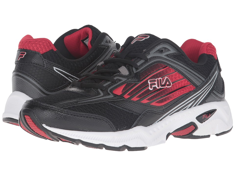 Fila - Inspell 4 (Black/Fila Red/Dark Silver) Men's Shoes