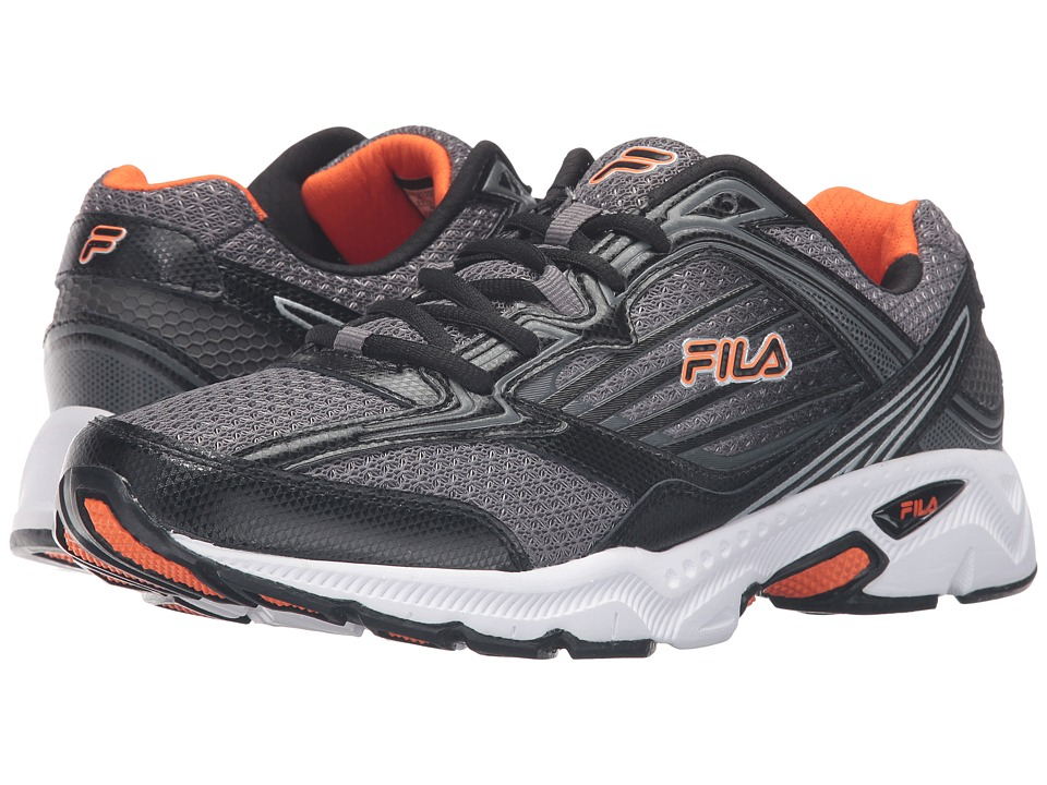Fila - Inspell 4 (Dark Silver/Black/Vibrant Orange) Men's Shoes