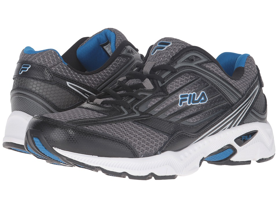 Fila - Inspell 4 (Dark Silver/Black/Electric Blue) Men's Shoes