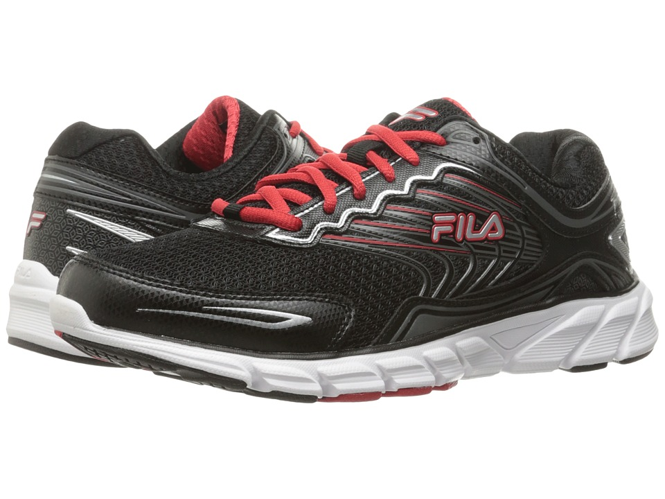 Fila - Memory Maranello 4 (Black/Fila Red/Metallic Silver) Men's Shoes
