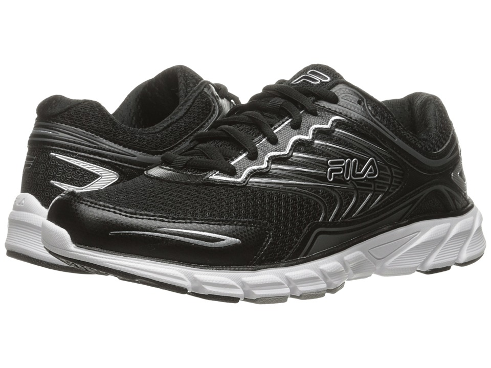 Fila - Memory Maranello 4 (Black/Black/Metallic Silver) Men's Shoes