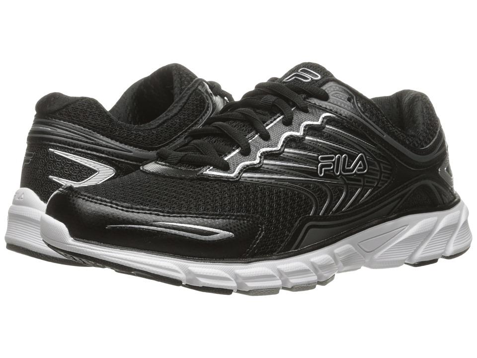 Fila - Memory Maranello 4 (Black/Black/Metallic Silver) Men's Shoes