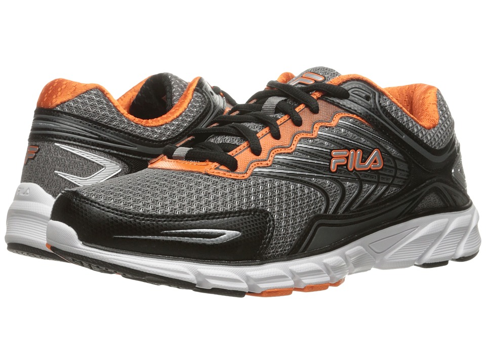 Fila Memory Maranello 4 (Dark Silver/Black/Vibrant Orange) Men
