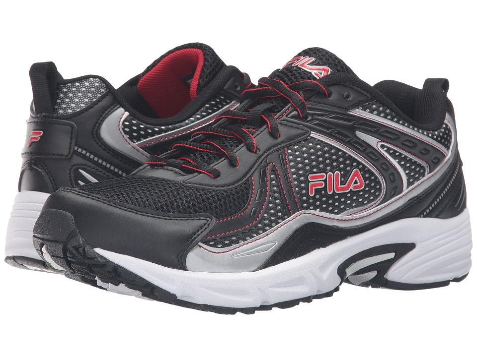 Fila - Validation (Black/Fila Red/Metallic Silver) Men's Shoes