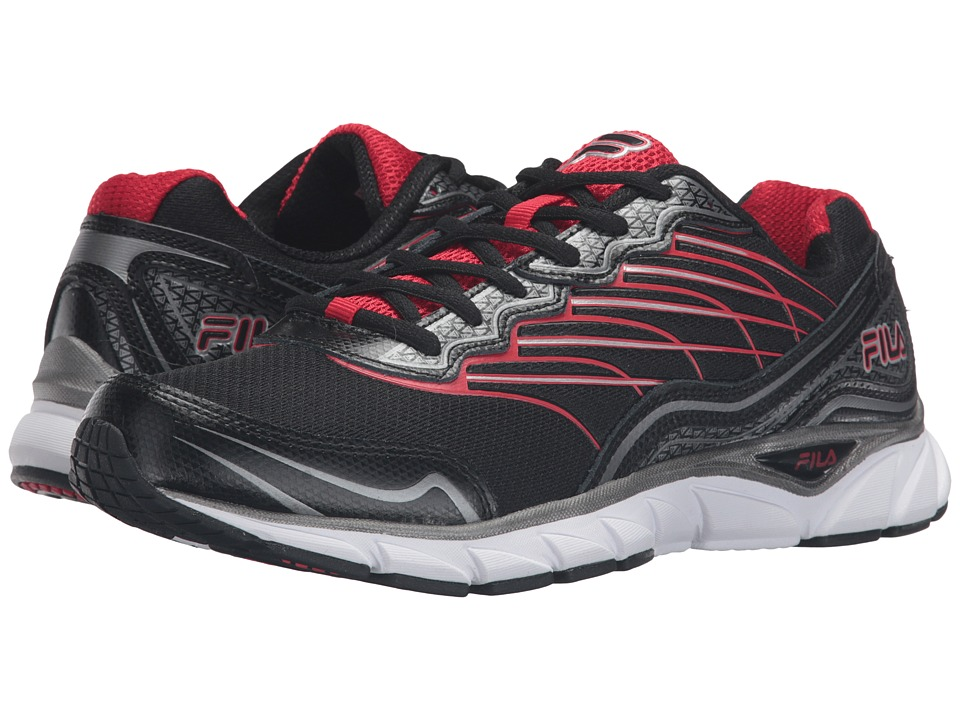 Fila - Memory Countdown 3 (Black/Dark Silver/Fila Red) Men's Shoes