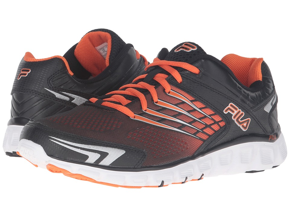 Fila - Memory Arizer (Black/Vibrant Orange/Metallic Silver) Men