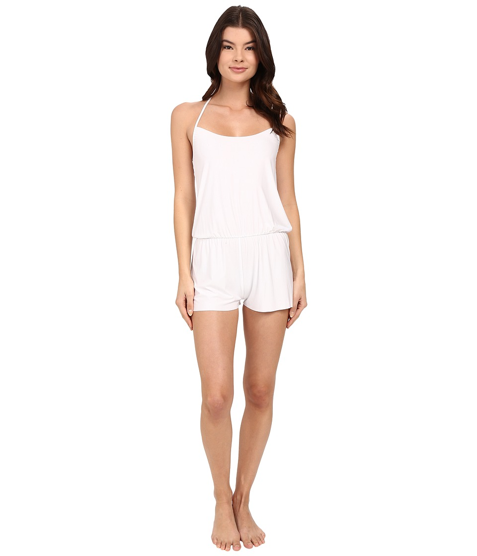 Commando - Butter T-Back Romper SL113 (White) Women's Jumpsuit & Rompers One Piece