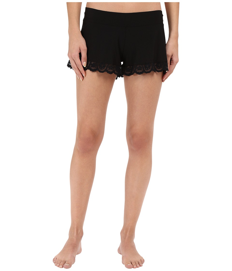 Commando - Butter Lace Tap Shorts SL114 (Midnight) Women's Underwear