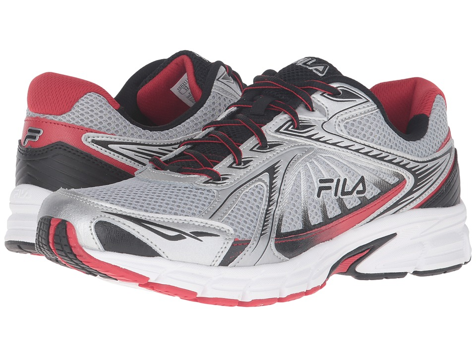 Fila - Omnispeed (Metallic Silver/Fila Red/Black) Men's Shoes
