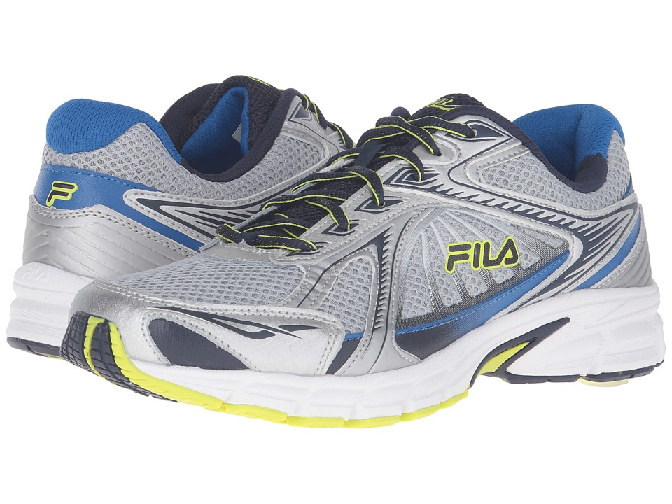 Fila Omnispeed (Metallic Silver/Fila Navy/Lime Punch) Men