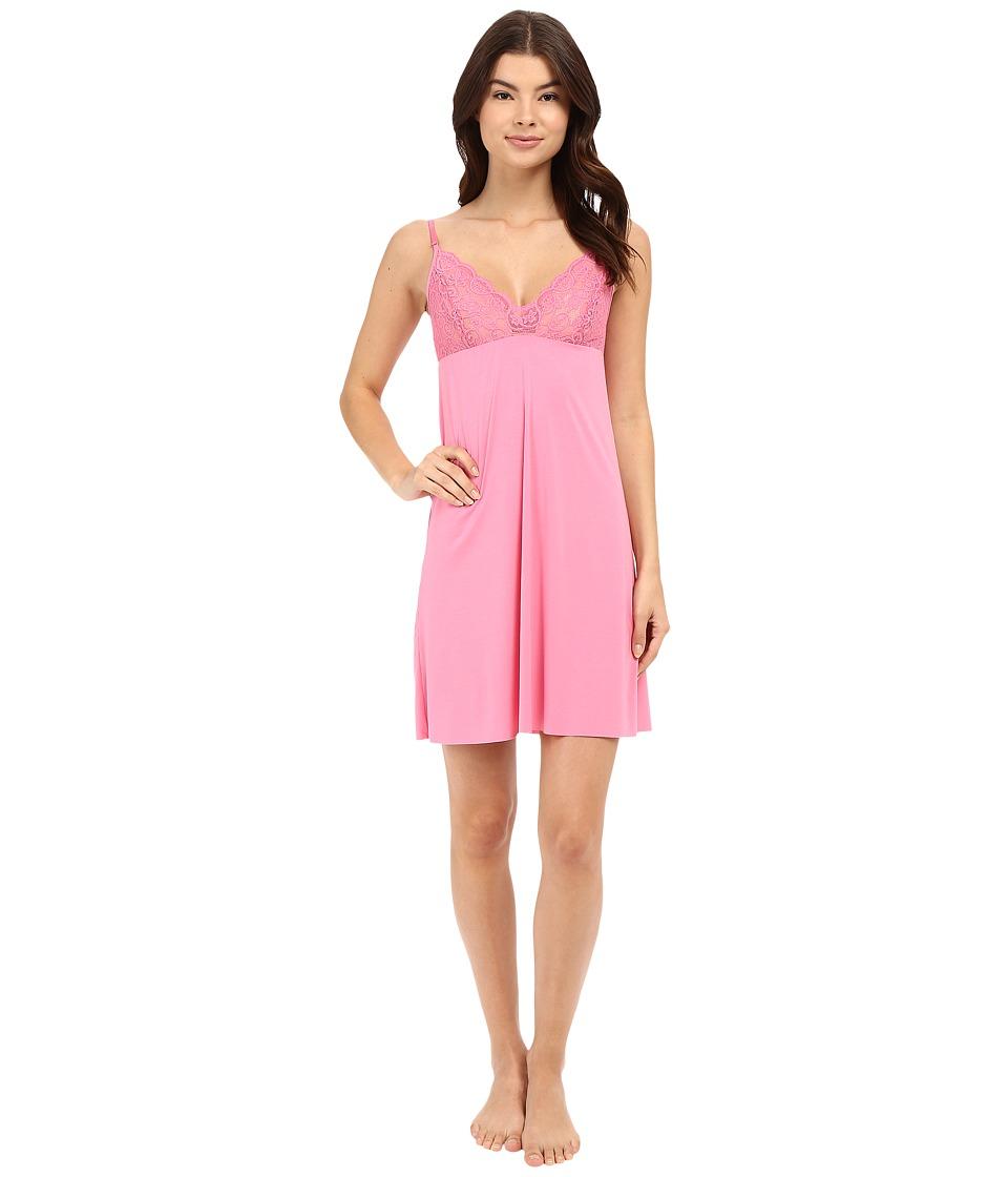Commando - Butter Lace Top Chemise SL116 (Petal Pink) Women's Pajama plus size,  plus size fashion plus size appare