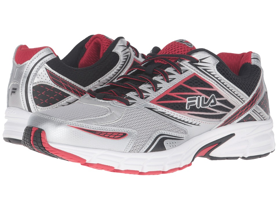 Fila - Royalty 2 (Metallic Silver/Black/Fila Red) Men's Shoes