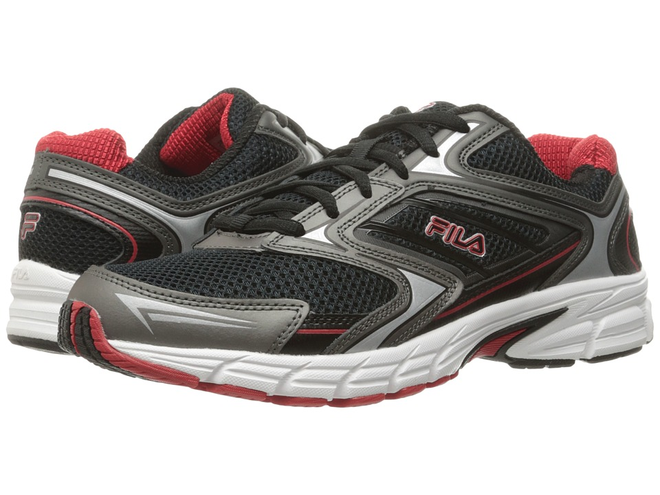 Fila Xtent 4 (Black/Dark Silver/Fila Red) Men