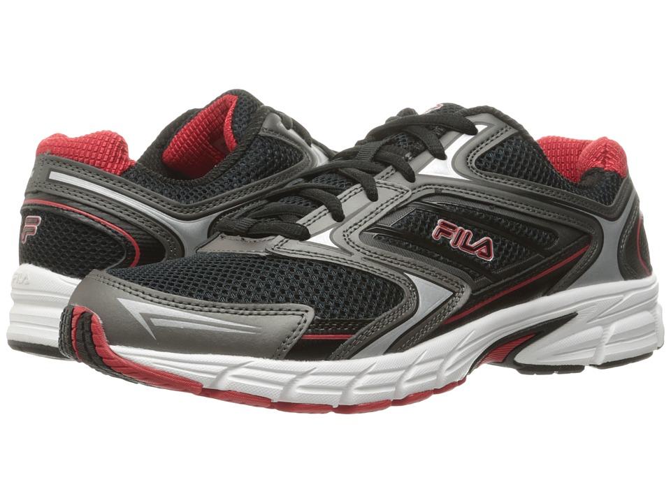 Fila - Xtent 4 (Black/Dark Silver/Fila Red) Men's Shoes