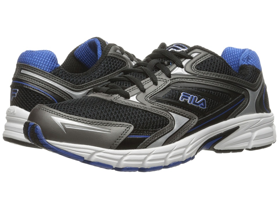 Fila Xtent 4 (Black/Dark Silver/Prince Blue) Men