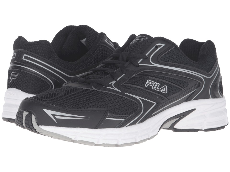 Fila Xtent 4 (Black/Black/Metallic Silver) Men