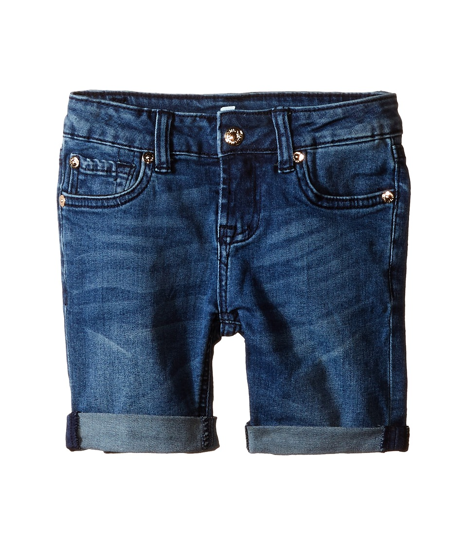7 For All Mankind Kids - Five-Pocket Bermuda Denim Shorts in Medium Heritage (Little Kids) (Medium Heritage) Girl's Shorts