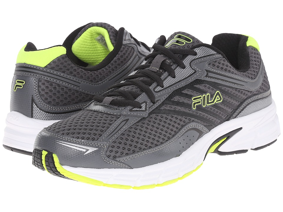 Fila - Xtenuate (Dark Shadow/Castlerock/Safety Yellow) Men's Shoes