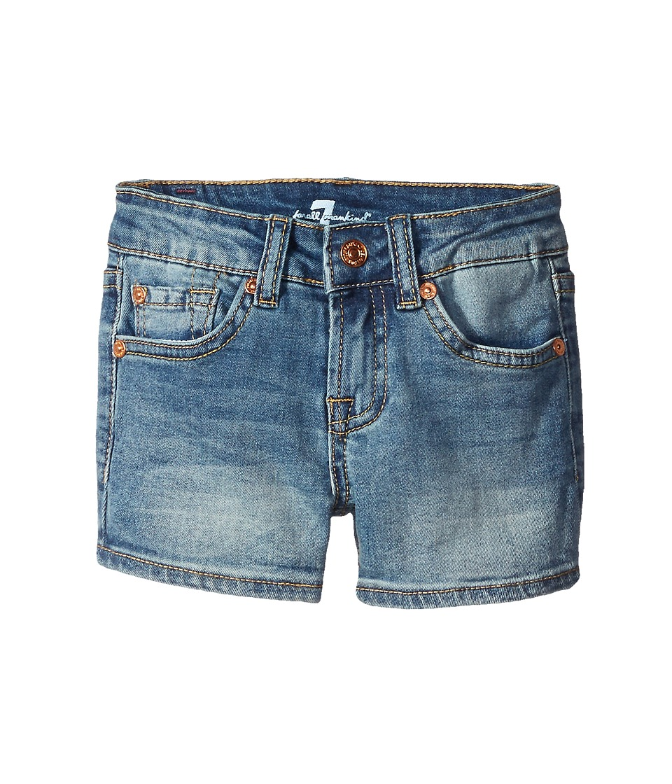7 For All Mankind Kids - Five-Pocket Denim Short Shorts in Sloan Heritage Medium (Little Kids) (Sloan Heritage Medium) Girl