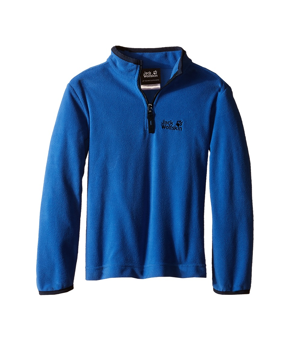 Jack Wolfskin Kids - Gecko Nanuk 1/2 Zip (Little Kid/Big Kid) (Peacock Blue) Boy's Clothing