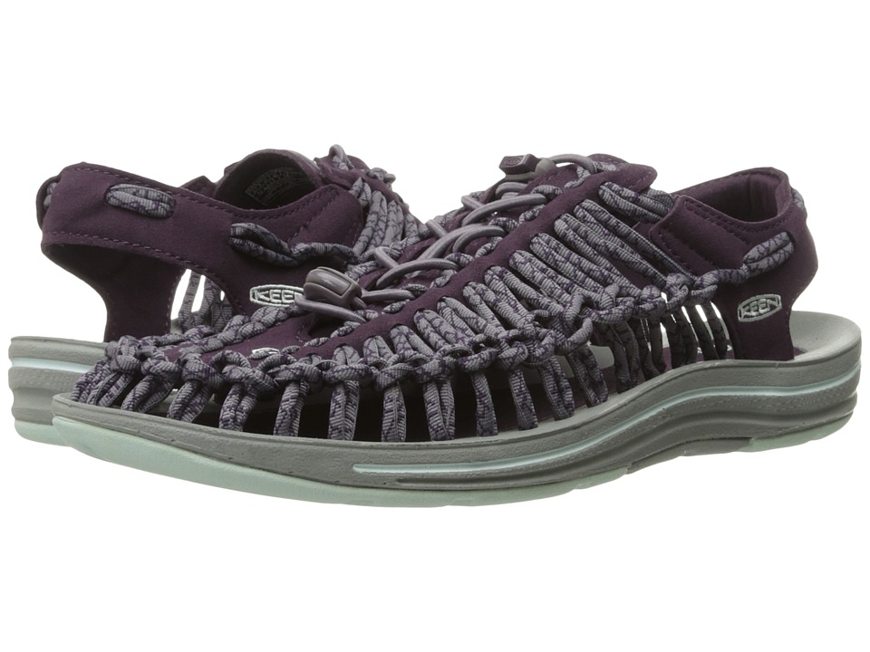 Keen - Uneek (Plum/Shark) Women's Toe Open Shoes