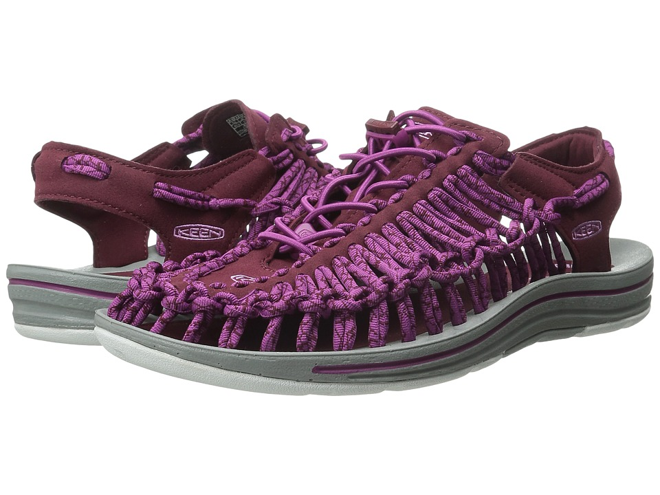 Keen - Uneek (Zinfandel/Viola) Women's Toe Open Shoes