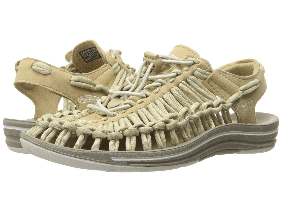 Keen - Uneek (Cornstalk/Feather Gray) Women's Toe Open Shoes