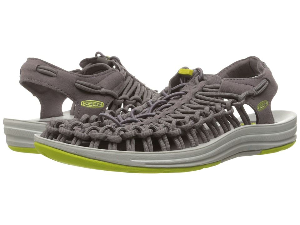 Keen - Uneek (Shark/Sulphur Spring) Women's Toe Open Shoes