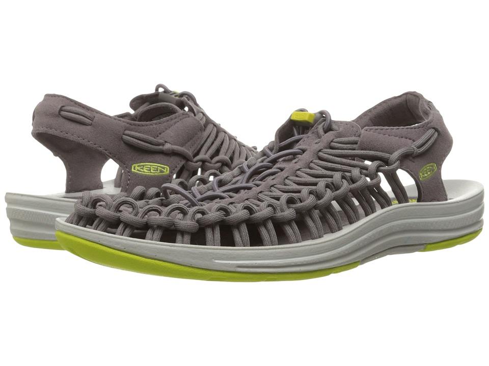 Keen - Uneek (Shark/Sulphur Spring) Women's Toe Open Shoes