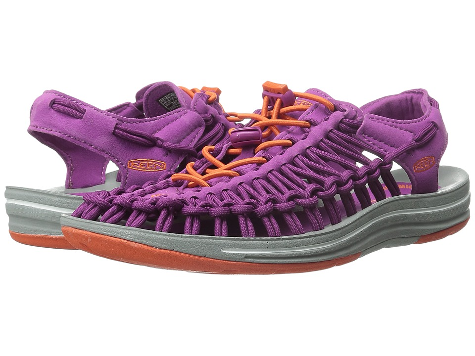 Keen - Uneek (Purple Wine/Tiger Lily) Women's Toe Open Shoes