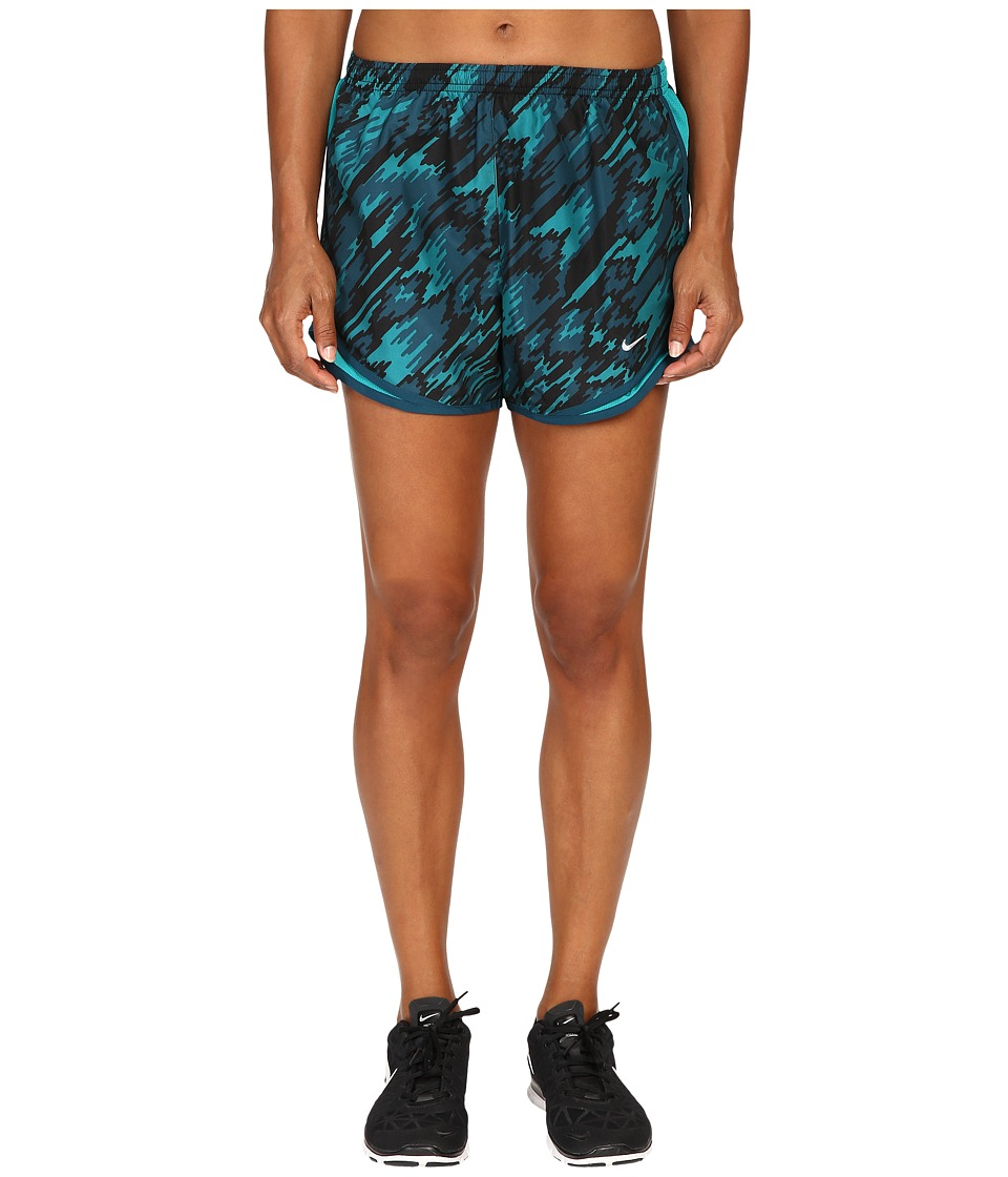 Nike - Dry Tempo Print 2 Running Short (Rio Teal/Rio Teal/Reflective Silver) Women's Shorts