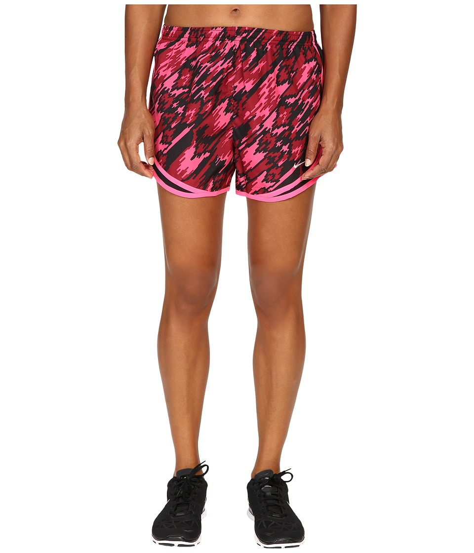 Nike Dry Tempo Print 2 Running Short (Hyper Pink/Black/Reflective Silver) Women