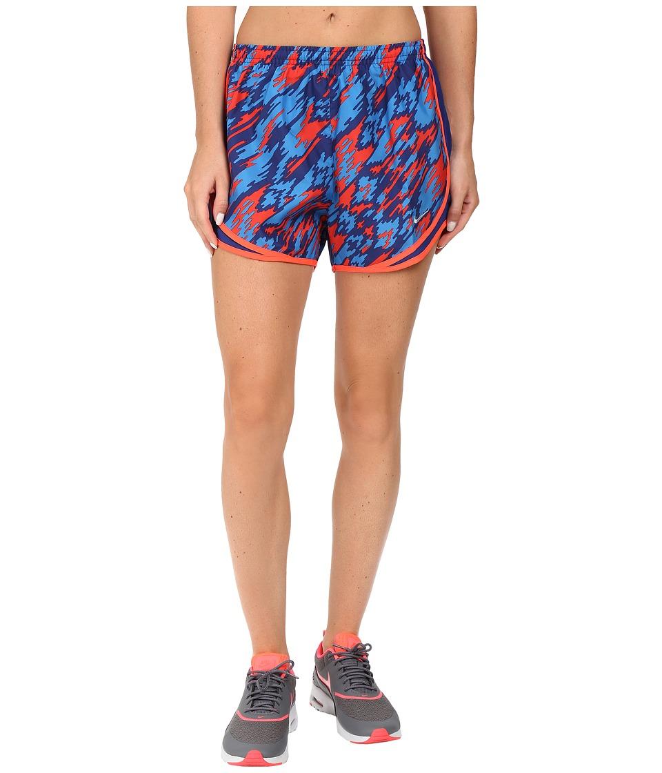 Nike - Dry Tempo Print 2 Running Short (Light Crimson/Reflective Silver) Women's Shorts